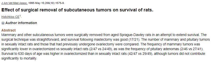 Ovariectomy effect on MT PT